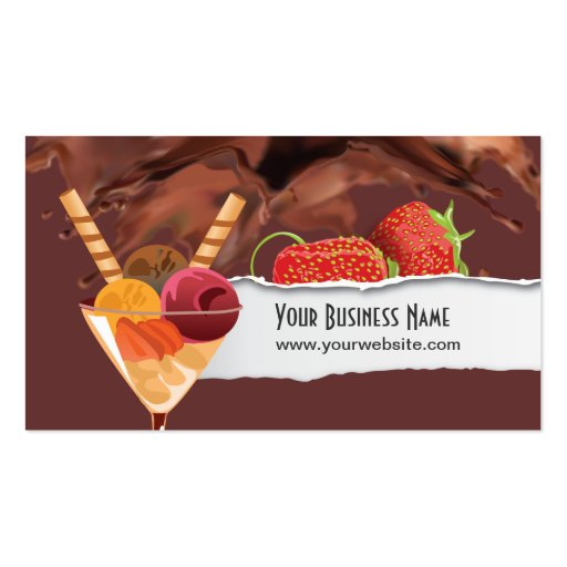Ice Cream & Chocolate Dessert Business Card (front side)