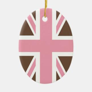 Ice-cream Classic Union Jack British(UK) Fla Ceramic Ornament