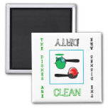 Ice Cream clean dirty Dishwasher Magner Refrigerator Magnets