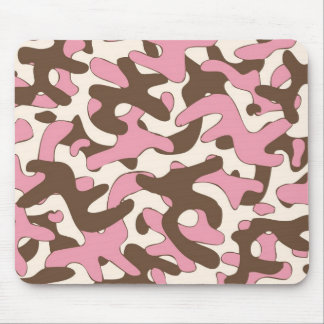 Ice cream color Camouflage Pattern Mouse Pad