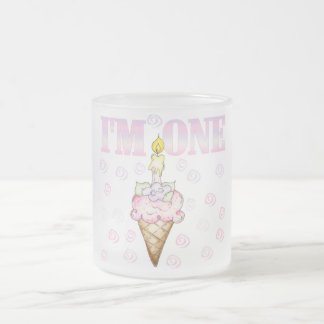 Ice Cream Cone 1st Birthday Tshirts Frosted Glass Coffee Mug