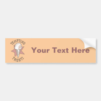 Ice Cream Cone - A Tempting Treat Car Bumper Sticker