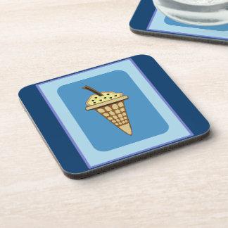Ice cream cone beverage coaster