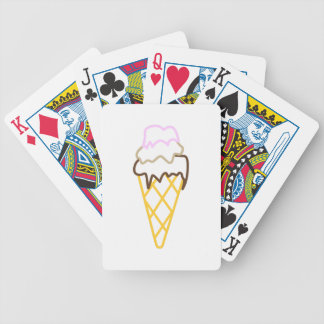 Ice Cream Cone Bicycle Playing Cards