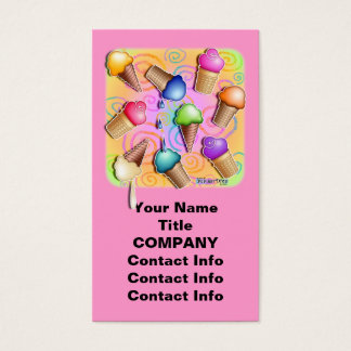 ICE CREAM CONE BUSINESS CARDS - Gift Tags