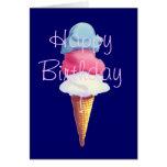 ICE CREAM CONE by SHARON SHARPE Greeting Card