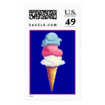ICE CREAM CONE by SHARON SHARPE Postage Stamp