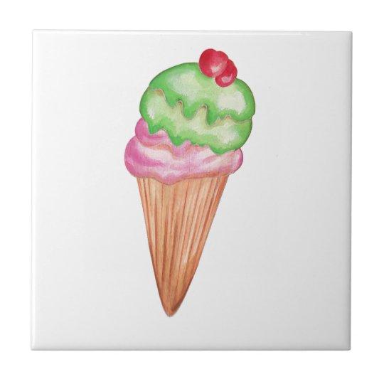 Ice Cream Cone Ceramic Tile