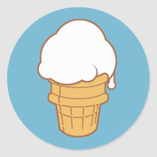 Ice Cream Cone Classic Round Sticker