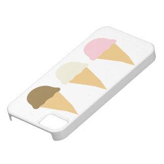 Ice cream cone cones trio desserts iPhone 5 case