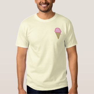 Ice Cream Cone Embroidered T-Shirt