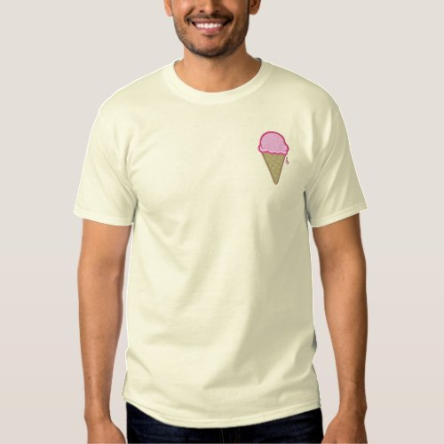 Ice Cream Cone Embroidered T_Shirt