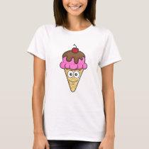 Ice Cream Cone Emoji T-Shirt