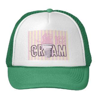 Ice Cream Cone Food Desserts Sweet Snack Love Trucker Hat