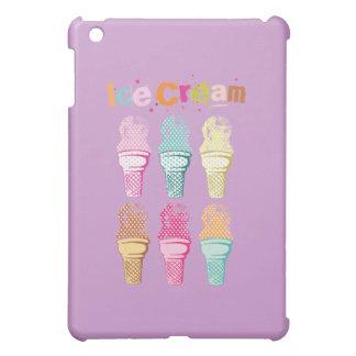 Ice Cream Cone Food Desserts Sweet Snack Six Love iPad Mini Cases