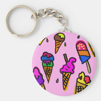 Ice Cream Cone Food Personalize Destiny Destiny'S Keychain