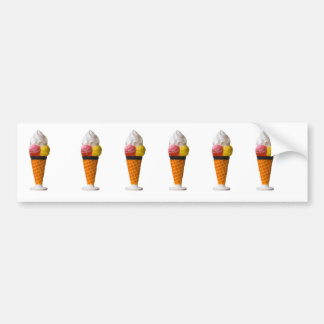 ice cream cone fun sticker, gift idea car bumper sticker