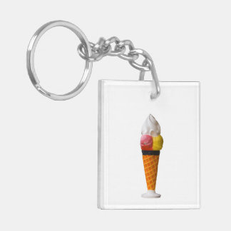 Ice cream cone, gigantic fun treat gift Double-Sided square acrylic keychain