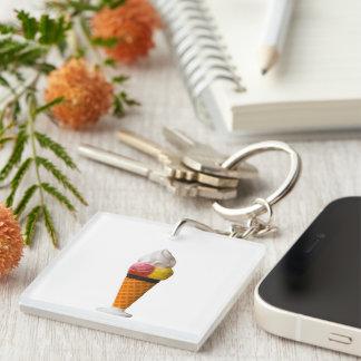 Ice cream cone, gigantic fun treat gift Single-Sided square acrylic keychain