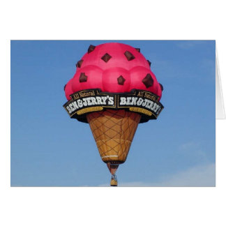 Ice Cream Cone Hot Air Balloon Card