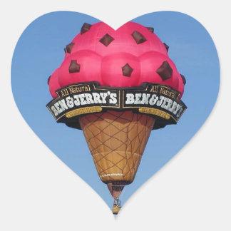 Ice Cream Cone Hot Air Balloon Heart Sticker