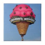 Ice Cream Cone Hot Air Balloon Small Square Tile