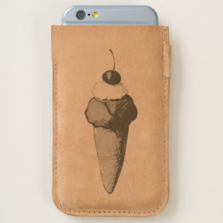 Ice Cream Cone iPhone Leather Pouch