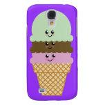 Ice Cream Cone Kawaii Art Galaxy S4 Case