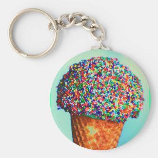 Ice cream cone keychain
