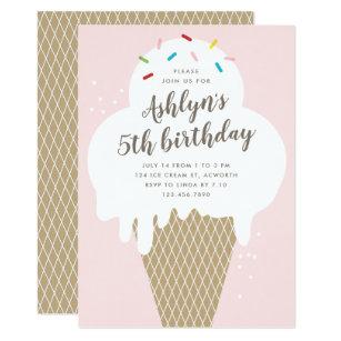 ice cream party invitations zazzle