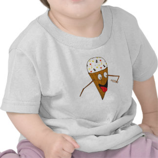 Ice Cream Cone Licking a Person Baby T T-shirts