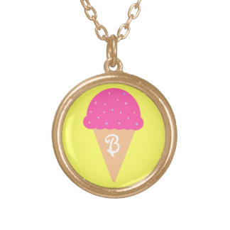Ice Cream Cone Monogram Necklace