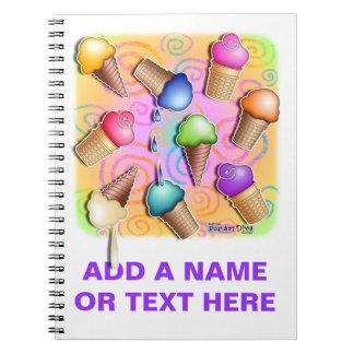 Ice Cream Cone Notebook