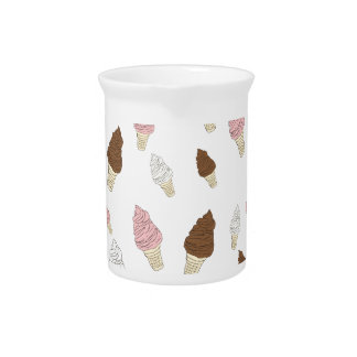 Ice Cream Cone Pattern Drink Pitcher