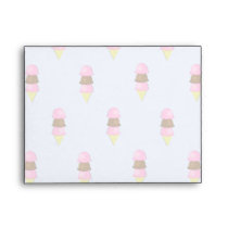 Ice Cream Cone Pattern Envelopes