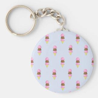 Ice Cream Cone Pattern Keychain