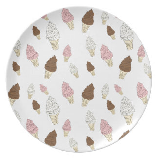 Ice Cream Cone Pattern Melamine Plate