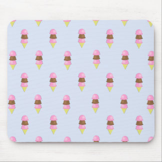 Ice Cream Cone Pattern Mouse Pad