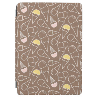 Ice Cream Cone Pattern on Brown iPad Air Cover