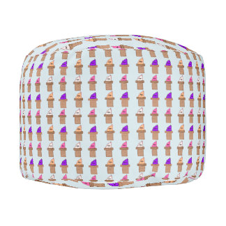 Ice cream Cone Pattern Pouf
