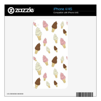 Ice Cream Cone Pattern Skins For The iPhone 4