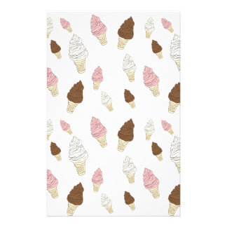 Ice Cream Cone Pattern Stationery