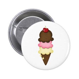 ice cream cone pinback button