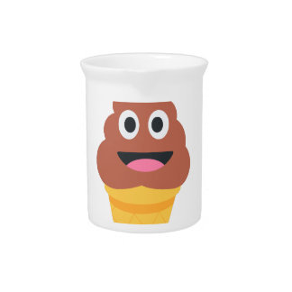 ice cream cone poo emoji beverage pitcher