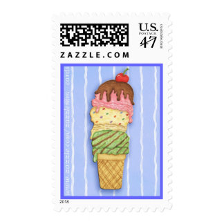 Ice Cream Cone Postage