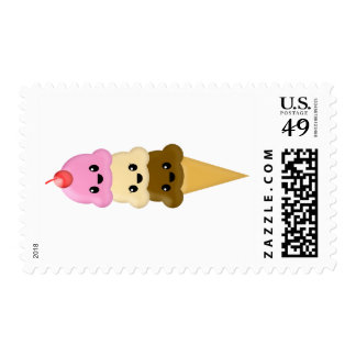 Ice Cream Cone Postage Stamp