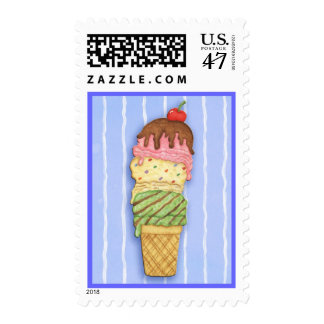 Ice Cream Cone - Postage Stamp