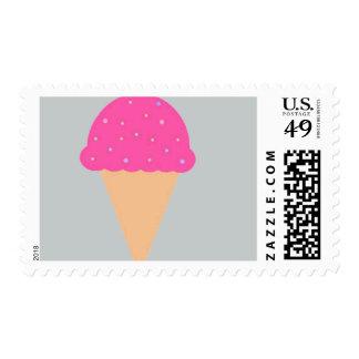 Ice Cream Cone Postage Stamp