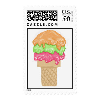 Ice Cream Cone Postage Stamps