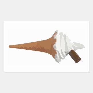 Ice Cream Cone Rectangular Sticker
